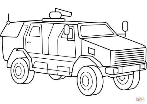 coloring pages of army trucks military armored mrap vehicle coloring page free
