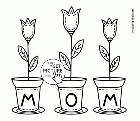 printable flowers mother s day flowers for mom mother s day coloring page for kids