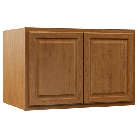 medium oak kitchen cabinets hton bay assembled 36x24x24 in hton refrigerator
