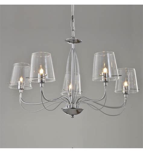 lustre baroque design lustre baroque design 5 bras verre transparent matane