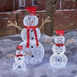White Plastic Outdoor Chairs Member S Mark 3 Piece Illuminated Crystallized Snowman