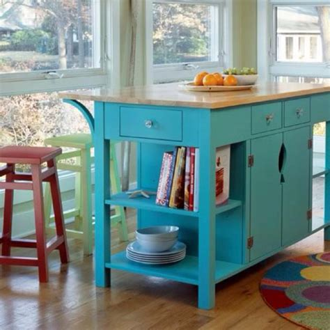 love this turquoise kitchen island great accent piece for the home pinterest paint the