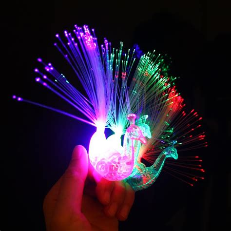 Best Led Colorful Peacock Night Light Flashing Ring Night Peacock Lights