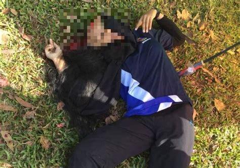 Kepala Pisau Potong Rumput pelajar maut terkena bilah pisau traktor pemotong rumput