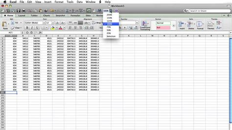 tutorial excel om how to zoom excel on mac youtube