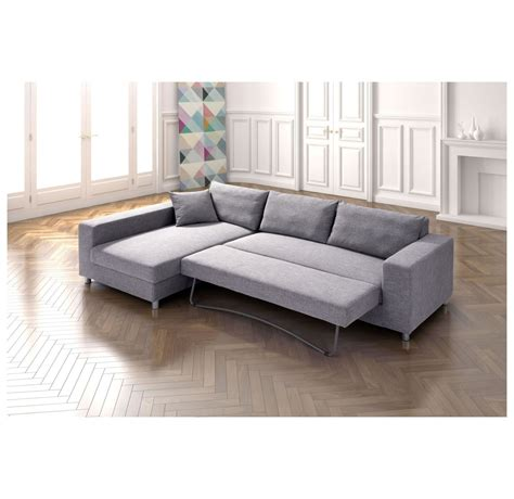 Zuo Modern Roxboro   Sofa Lit Sectionnel (Gris)   DISC