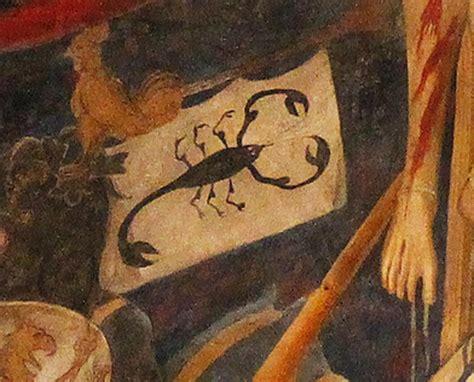 portavano le insegne lo scorpione e la croce alchimia dei simboli