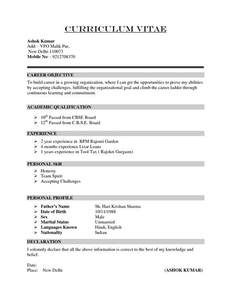 Cv For by Curriculum Vitae Cv Sles Fotolip Rich Image And
