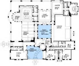 plan 16315md mediterranean villa with two courtyards