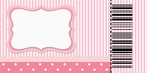 rayas en blanco y negro invitaciones para imprimir gratis pink and white stripes and polka dots free printable