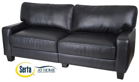 72 leather sofa serta at home rta santa rosa collection 72 quot leather sofa