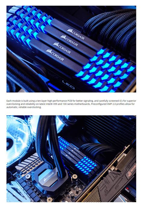 Memory Ddr4 Corsair Vengeance Led Cmu32gx4m2c3200c16b 2x16gb corsair vengeance led cmu32gx4m2c3200c16b 32gb 2x16gb