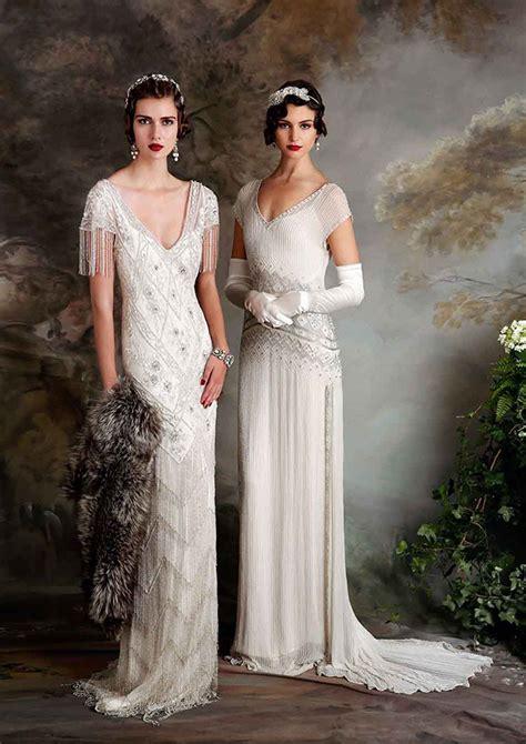 Vintage 20 S Wedding Dresses by 1920s Wedding Fashion Trends Wedding Dress Inspiration