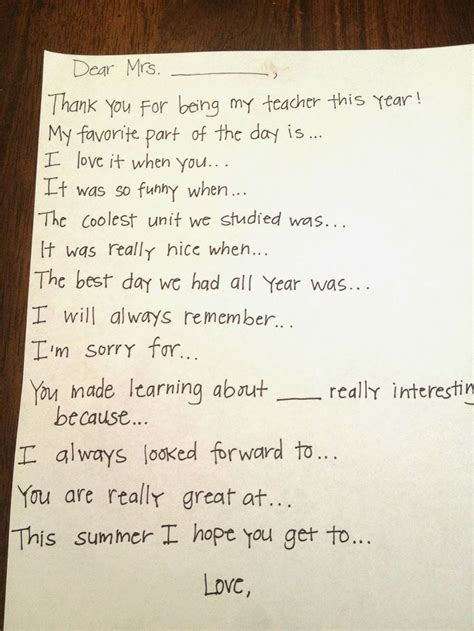 Thank You Note To Preschool End Of Year 25 Best Ideas About Thank You On Thank You Gifts Thank You