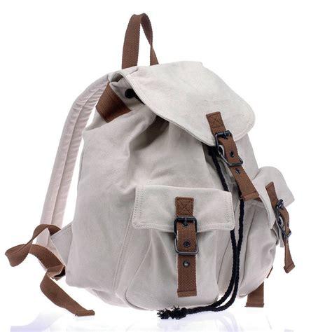 White Backpack Bag bike backpack canvas backpack for school black white