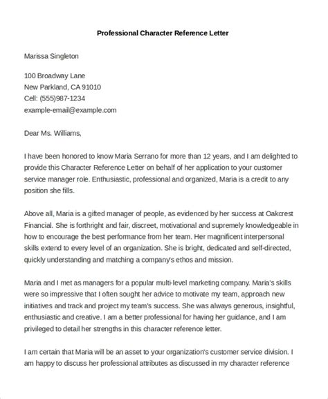sample professional reference letters ms word