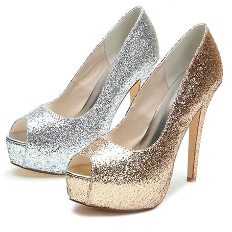 silver and gold high heels silver and gold heels qu heel