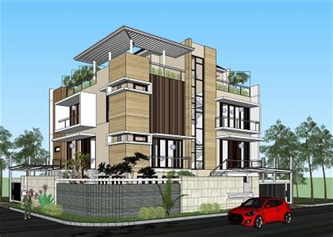 House Plans For Small Houses by Free 3d Models Houses Villas Modern Two Family House