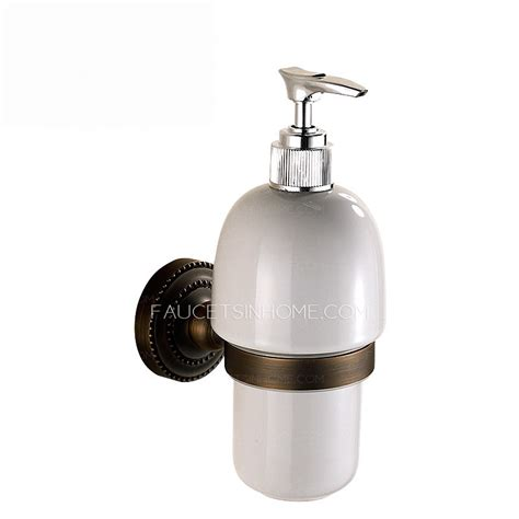 Bronze Shower Curtain Rings - antique bronze wall mount soap dispensers bathroom
