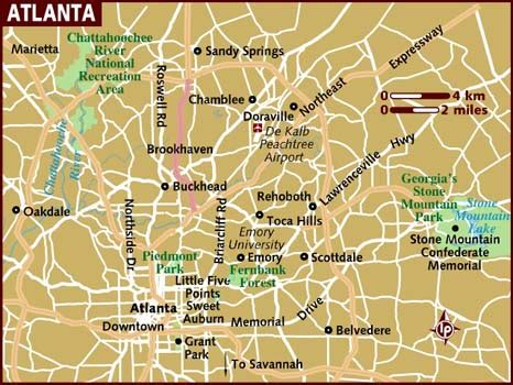 atlanta map usa map of atlanta