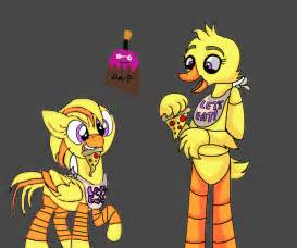 Mlp chica and fnaf chica by frustyclaw on deviantart