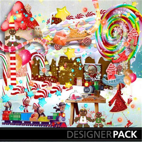 digital scrapbooking kits gingerbread land magical