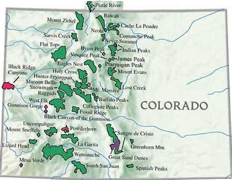 colorado mountains map colorado mountain ranges map colorado