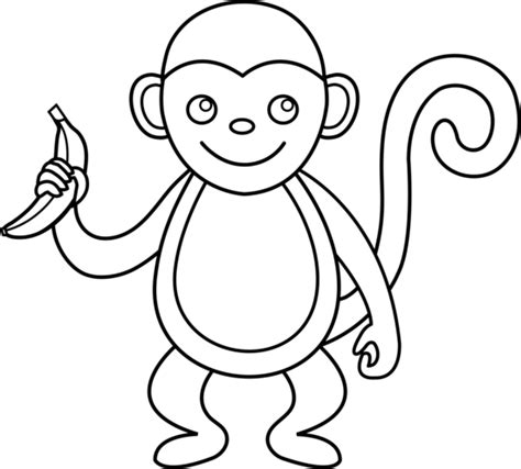 Outline Of A Monkey by Monkey Line Free Clip