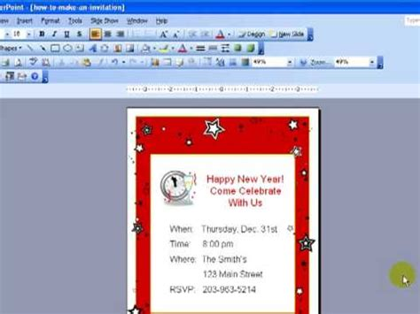 how to make a card template in word design invitations in powerpoint