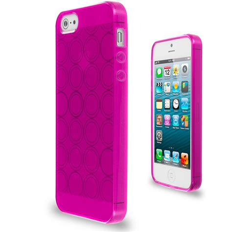 Softcase Iphone 5g 5s color circles tpu rubber jelly skin cover for iphone 5 5g 5s ebay