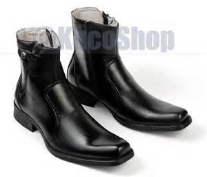 s fashion mid ankle dress boots shoes black zippered