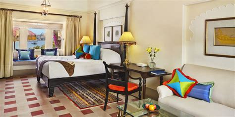 premier room premier hotel room with semi pool the oberoi udaivilas udaipur hotel rooms