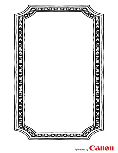 printable picture frames templates frame 4 free printable coloring pages