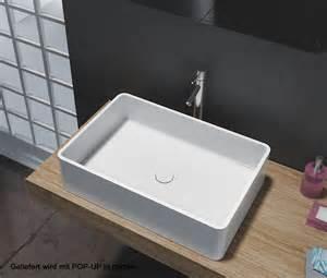 waschbecken 60 x 40 aufsatzbecken aufsatz waschbecken rechteck pb2012 design