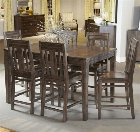 counter height dining table set seven casual counter height dining set by