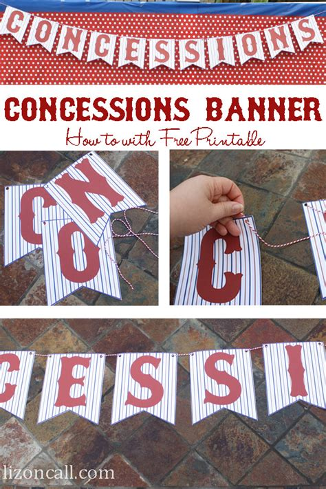 Printable Concessions Banner | free concessions printable banner liz on call