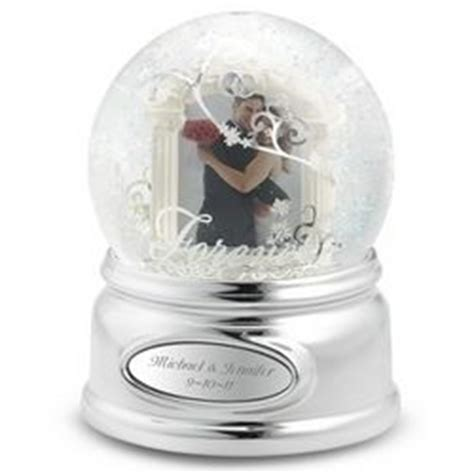 personalized wedding photo snow globe findgift com