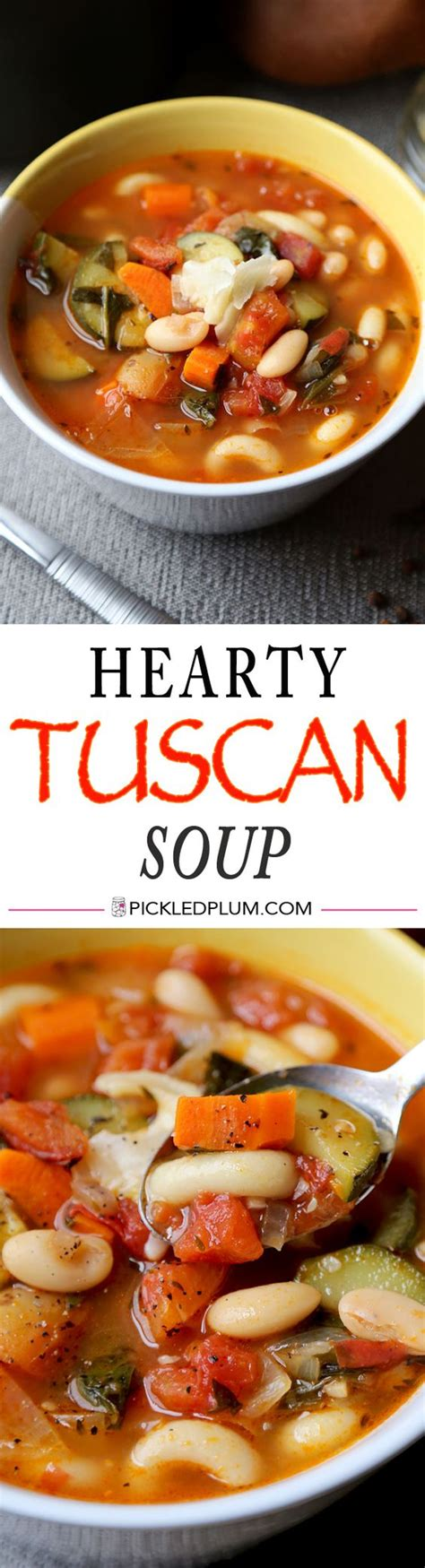 comfort food soup recipes hearty tuscan soup recipe tuscan soup vegans and soup