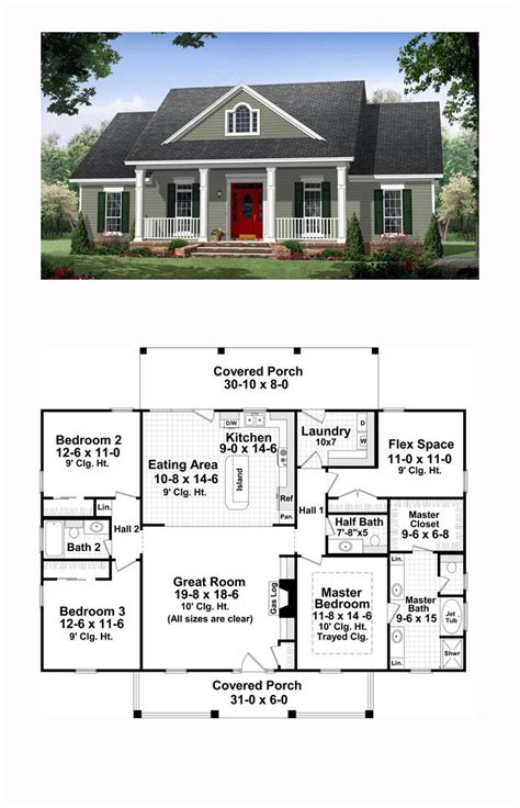 traditional house plan 59952 total living area 1870 sq