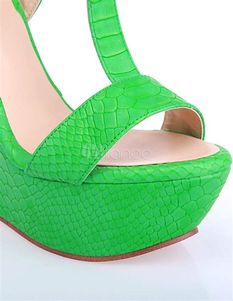 Wedges Mr90 Crocodile 64 dress crocodile t pu leather s wedge shoes milanoo