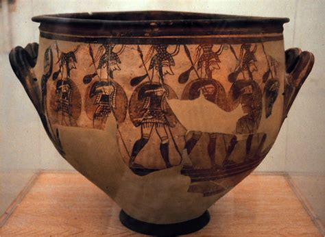 Mycenaean Warrior Vase by Ap Aegean Ap History With Larrabee At Buffalo