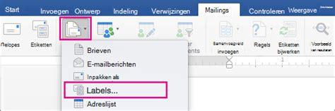 Etiketten Uit Excel In Word by Adresetiketten Maken In Word Via Afdruk Samenvoegen Word
