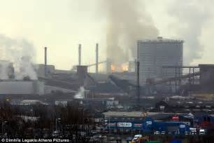 tata steel plant in port talbot sees firefighters