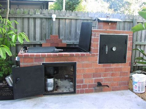 backyard barbecue pit brick barbecue outdoor smoker home improvements and
