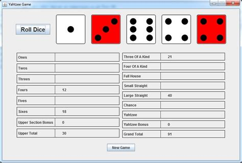 java swing game java yahtzee game 183 ryan harrison