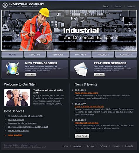 industrial template industrial company html website template best website