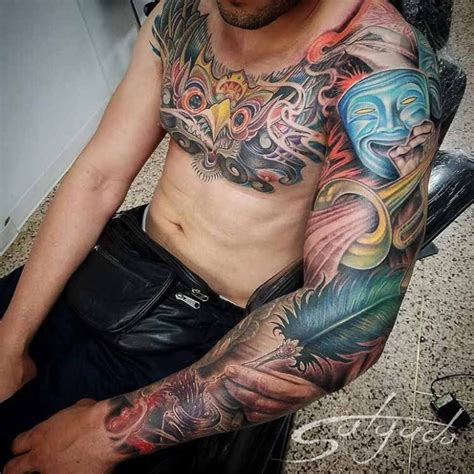 juan salgado tattoo chest and sleeve artistic best ideas gallery