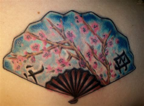 japanese fan tattoo designs asian fan