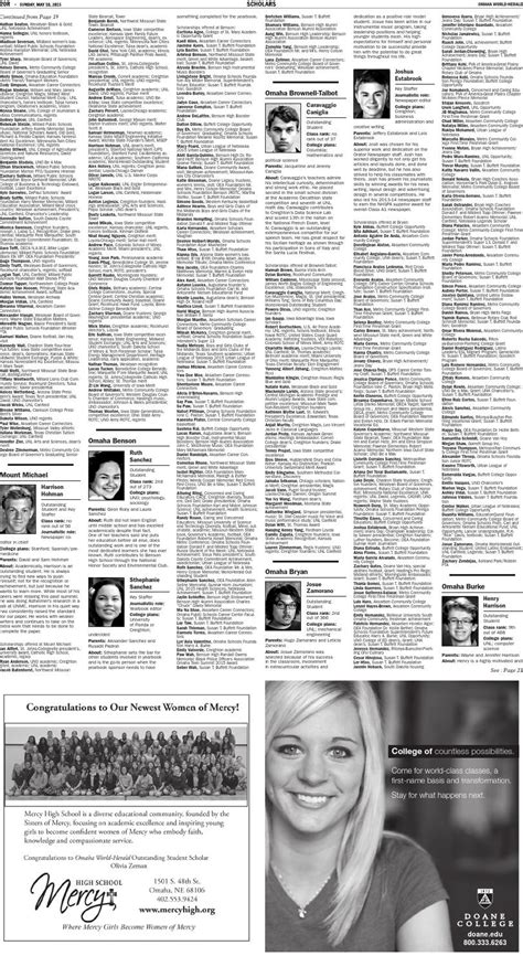 omaha world herald go section issuu 2015 omaha world herald scholars by omaha world herald