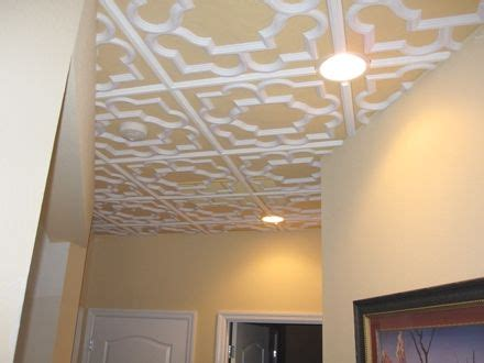New Drop Ceiling Tiles New Tiles For The Drop Ceiling Loving The Painted
